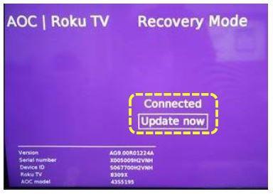 """Minha Roku TV """"não liga"""" mas o led de standby fica aceso, o que fazer?"""